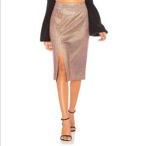 Sparkly J.O.A. Revolve metallic pencil Skirt